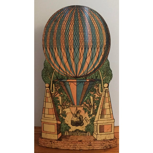 Green Vintage Mid-Century Piero Fornasetti Hot Air Balloon Umbrella Stand For Sale - Image 8 of 8