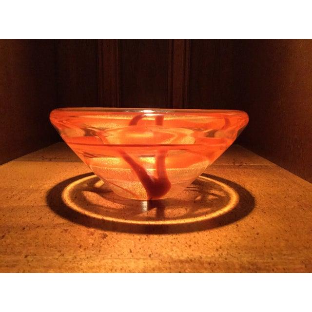 Seguso Viro for Murano Orange Art Glass Dish - Image 2 of 9