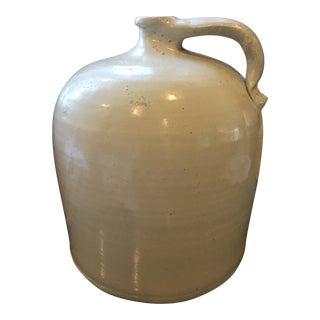 Late 19c Greige Glazed Stoneware Crock Jug For Sale