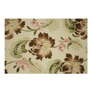 Antique French Long Fabric Curtain Pom Pom Trim For Sale