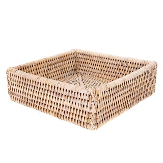 "Artifacts Rattan Napkin Holder 7.5""x7.5""x2.5"" For Sale"