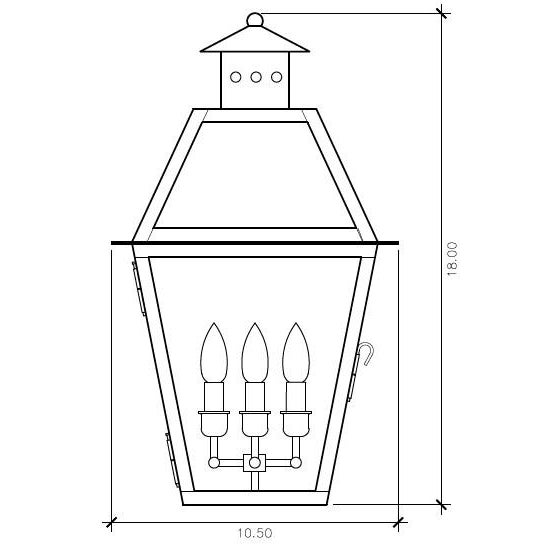 The CH-27 E wall mount lantern is from the Charleston Collection, Lantern & Scroll's most popular style. This lantern...