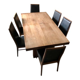 1970s Mid-Century Modern Dillingham Walnut Dining Set - 7 Pieces For Sale