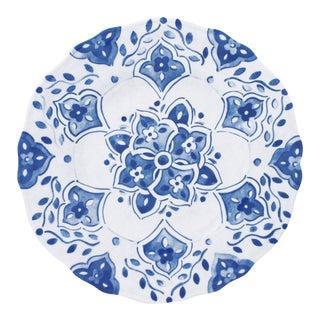 """Moroccan Blue 9"""" Melamine Salad Plate, Set of 4 For Sale"""
