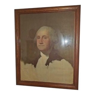 Early 20c George Washington Portrait Bicentennial Litho For Sale