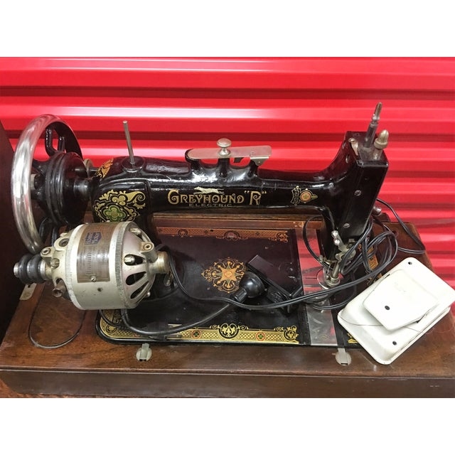 Greyhound Electric Portable Sewing Machine For Sale - Image 9 of 10