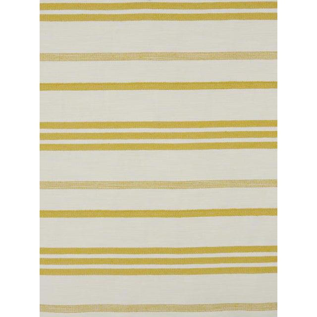 Sample, Scalamandre Marina Stripe Pastis Fabric For Sale