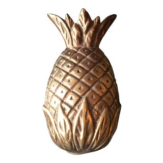 Brass Pineapple Door Knocker For Sale