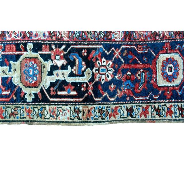 """Antique Persian Heriz Rug - 8' 10"""" x 11' 2"""" - Image 7 of 9"""