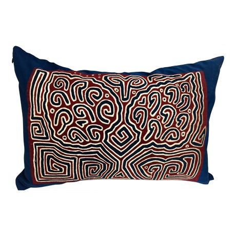 Quilted Mola Clouds Pillow - Image 1 of 5