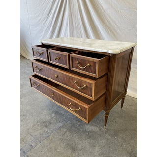 Italian Marble Top Walnut Commode Preview