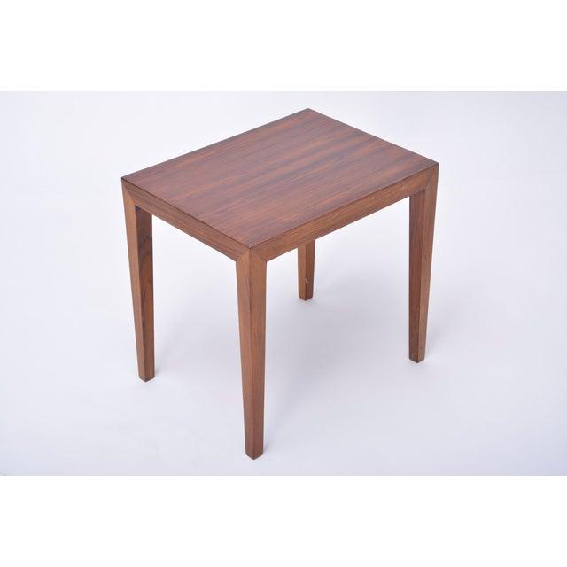 Severin Hansen Vintage Rosewood Side Table by Severin Hansen, 1960s For Sale - Image 4 of 9