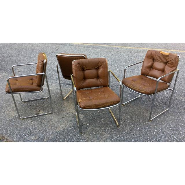 Art Deco ChromCraft Tubular Chrome Dining Chairs - Set of 4 For Sale - Image 3 of 9
