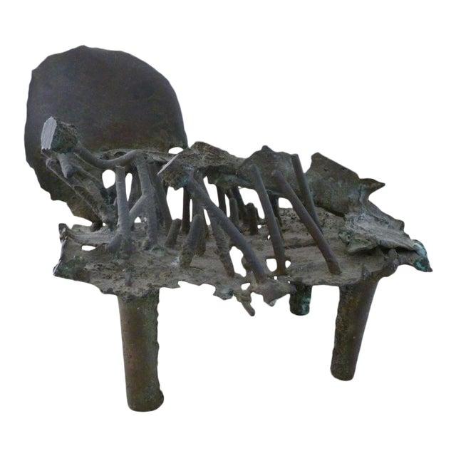 Early Rare Bronze Modernist Sculpture by Shinkichi Tajiri For Sale