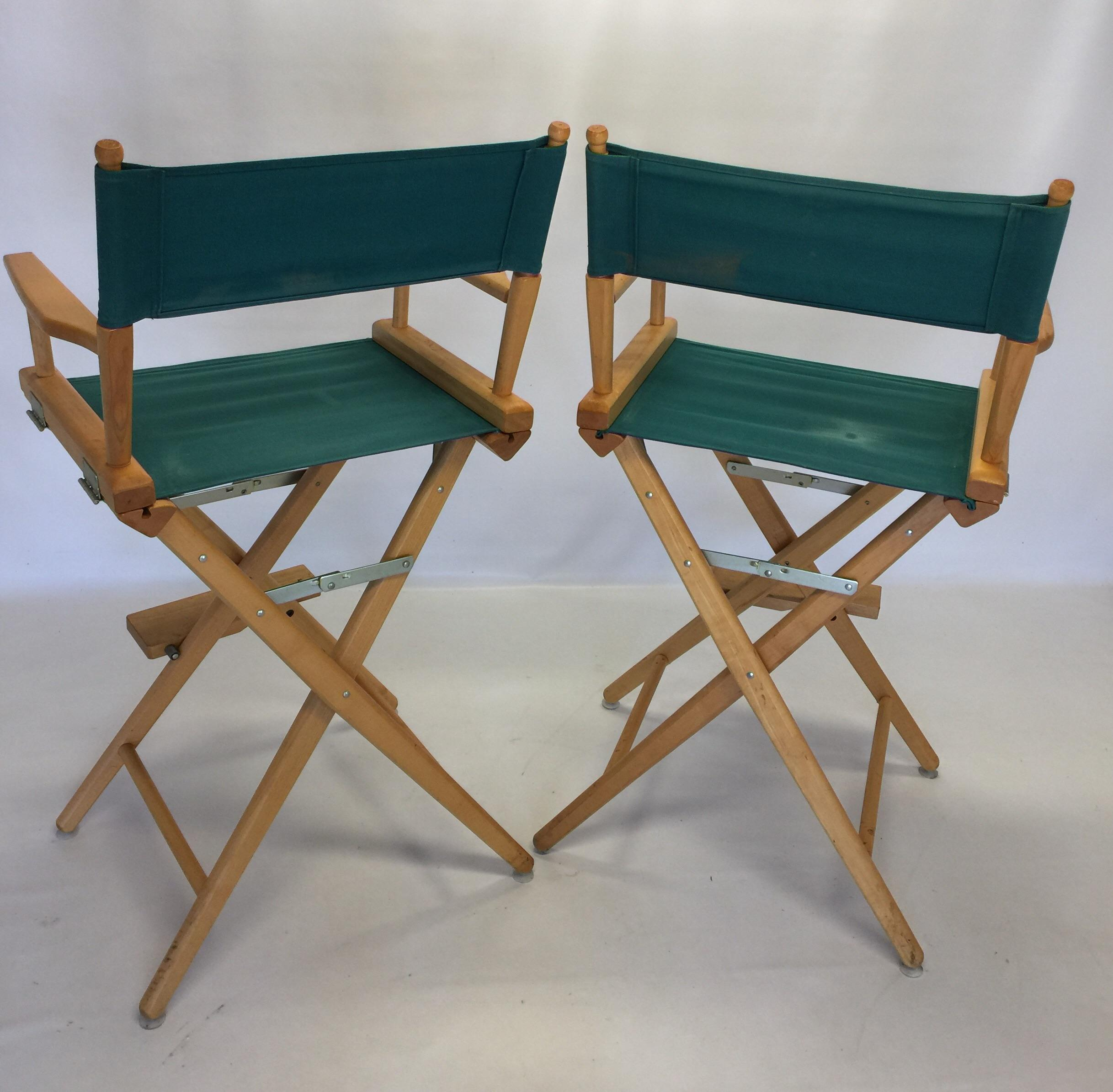 Pair Vintage Telescope Folding Directors Chairs Bar Stools   Image 4 Of 10