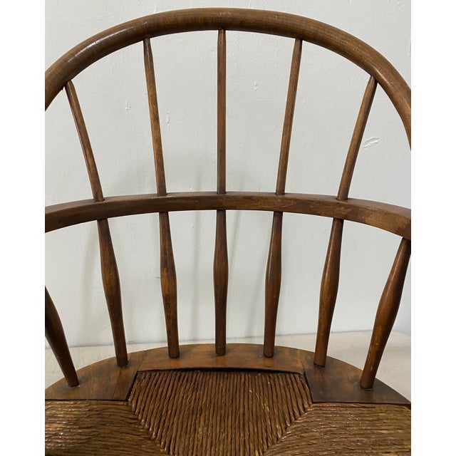 Late 19th Century Late 19th Century Childs Windsor Rocking Chair For Sale - Image 5 of 10