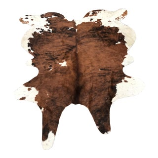 """Large Tri Color CowHide Rug - 6'3"""" x 8' For Sale"""
