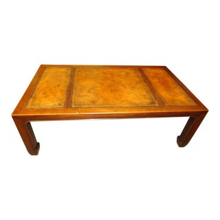 Baker Furniture Leather Top Coffee Table