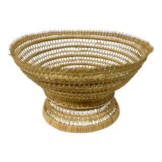 Vintage Hand Woven Fruit Basket