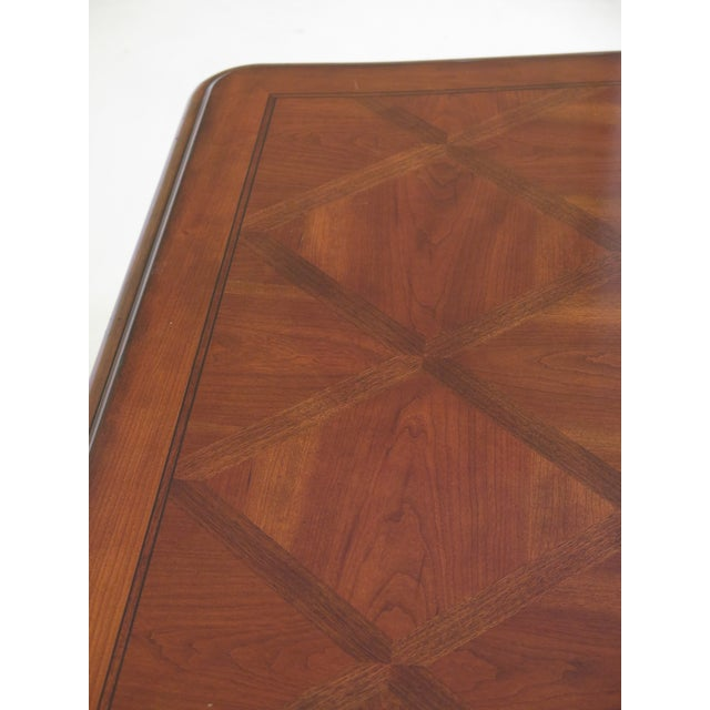 Traditional Traditional Ethan Allen Tuscany Collection Walnut Finish Dining Table For Sale - Image 3 of 13