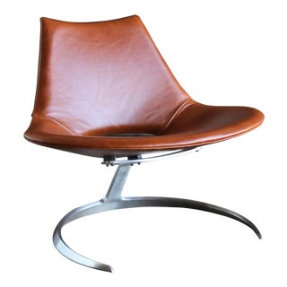 Preben Fabricius & Jørgen Kastholm Scimitar Chairs by Ivan Schlecter Circa 1965 For Sale