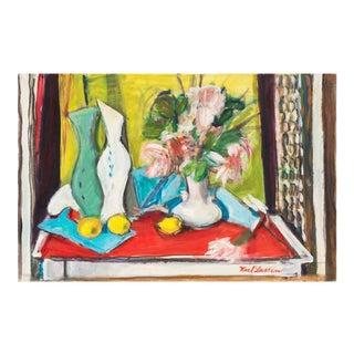 'Flowers and Lemons' by Karl Larsen, Paris Salon D'Automne, Danish Avant-Garde 'The Four', Oslo, Benezit For Sale