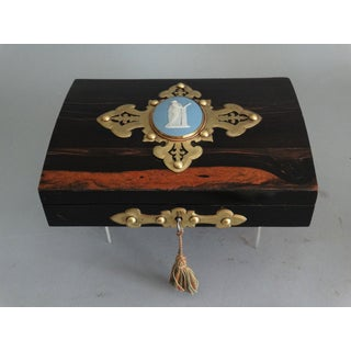 Antique English Coromandel Playing Cards Box Preview