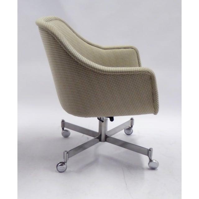 Brickel Associates Ward Bennett for Brickel Associates,Bumper Office Desk Armchair on Casters. For Sale - Image 4 of 12