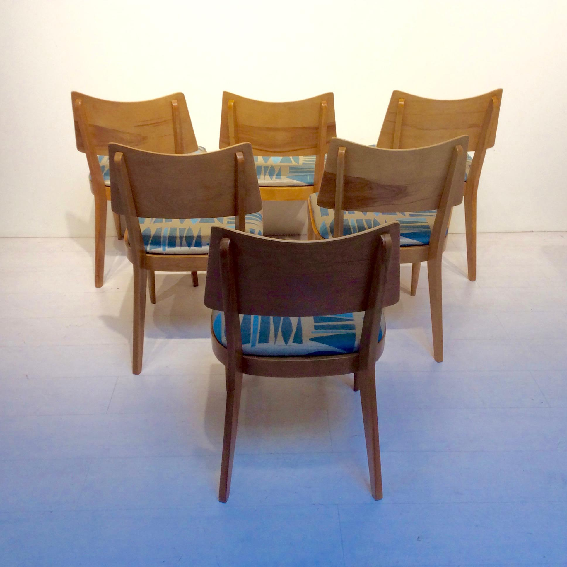 1950s Mid Century Modern Heywood Wakefield Dining Chairs  Set Of 6 For Sale