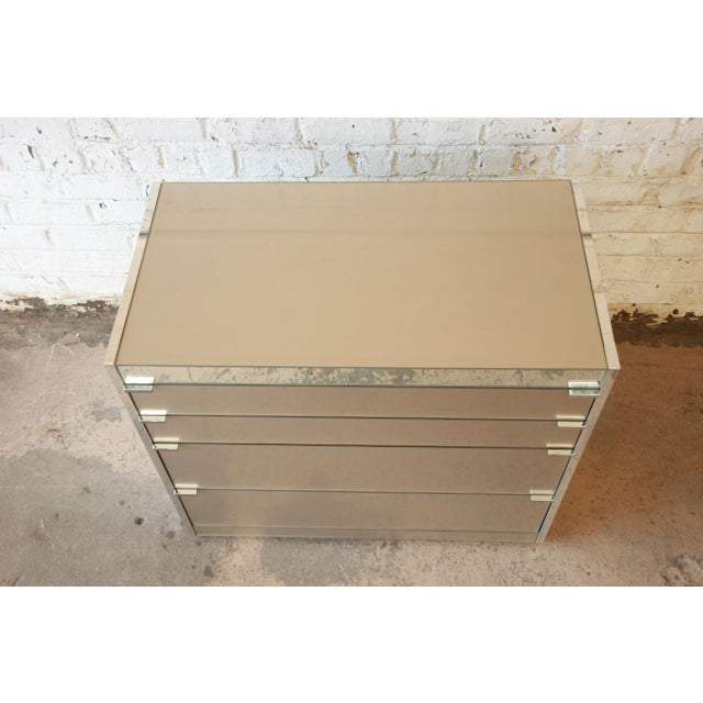 Guy Barker for Ello Mid-Century Mirrored Chest of Drawers - Image 4 of 9