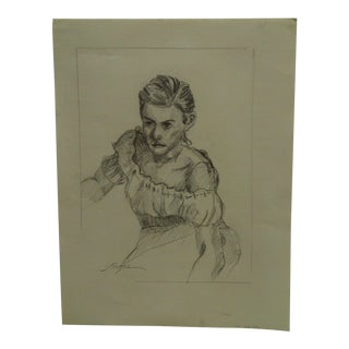 "Tom Sturges Jr. 1952 ""Bare Shoulder"" Original Drawing"