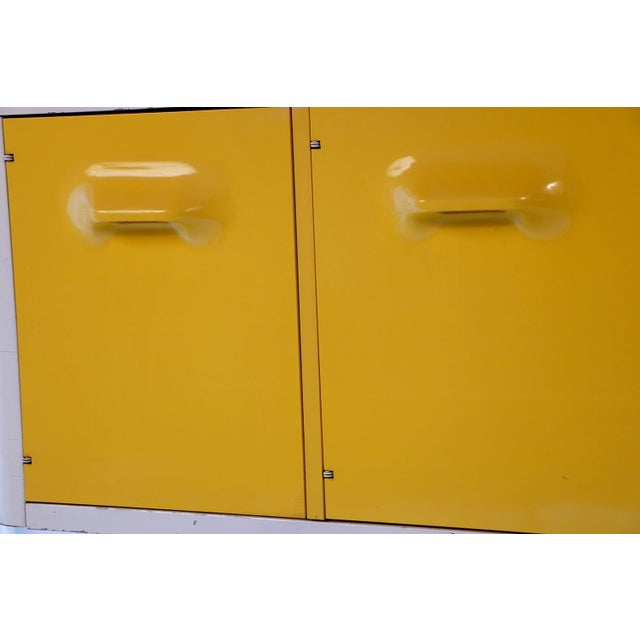 Yellow Raymond Loewy Style Chapter One Broyhill Premier Credenza Dresser Cabinet For Sale - Image 8 of 11