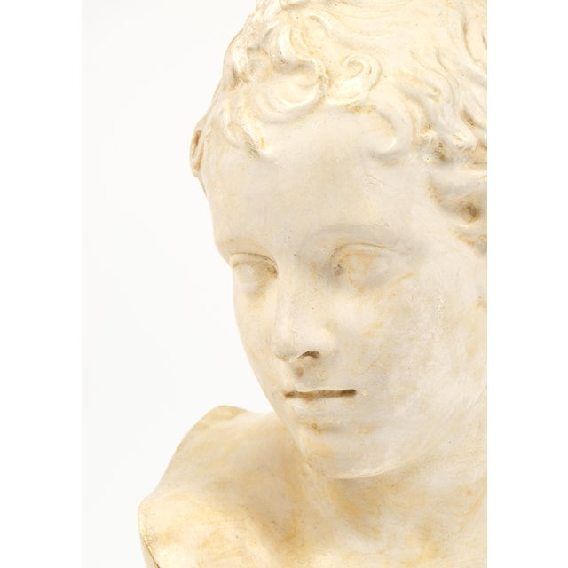 Antique French Plaster Child Bust - Image 8 of 9