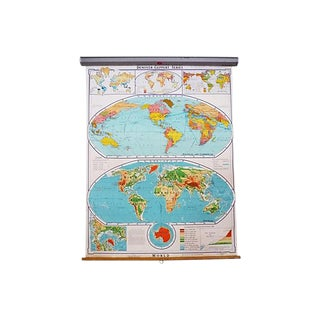 Collapsible Educational American World Map