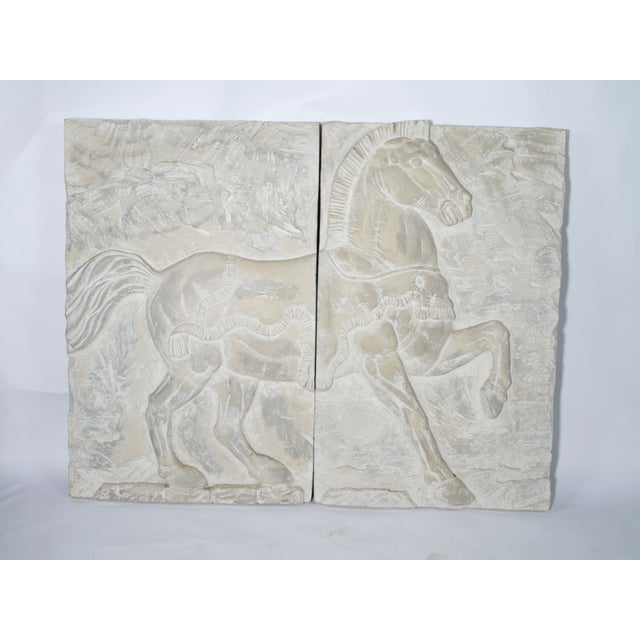 White Fiberglass Horse Wall Art Pieces - A Pair - Image 7 of 7