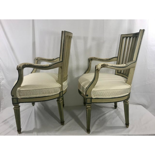 Classical Italian Dining Chairs Set of 4 For Sale - Image 10 of 12