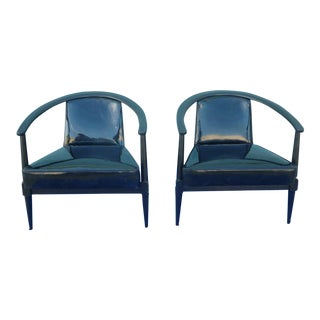 1950s Vintage Mid-Century Modern Sculptural Chairs - A Pair For Sale