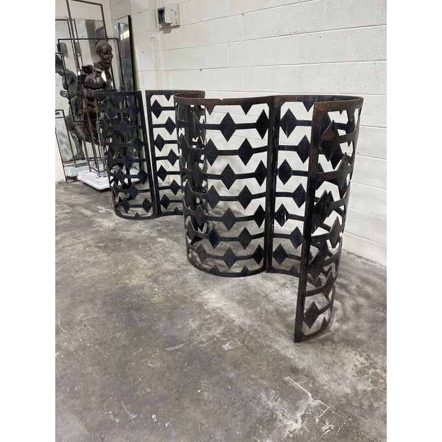 Modern Curved Iron Architectural Panels - Set of 4 For Sale - Image 3 of 11