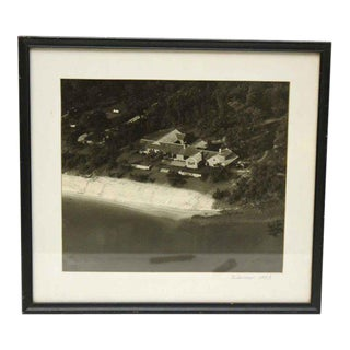1953 Vintage Matted Houses on Beach Photo For Sale