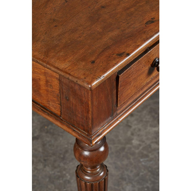 French Colonial Single-Piece Rosewood Top Desk For Sale - Image 11 of 13