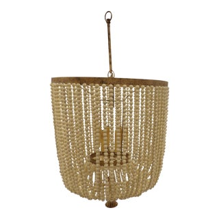 Large Beaded Chandelier From Dr. Livingston For Sale