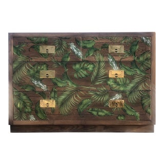 Henredon Campaign Style Scene One Bachelor's Chest For Sale
