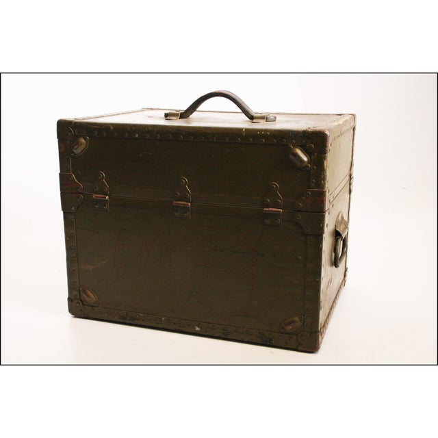 Vintage Industrial Green Military Hard Case - Image 4 of 11