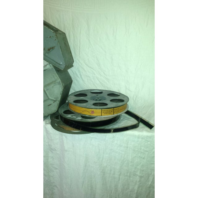 Vintage Movie Reel Canister 35mm with Three Reels For Sale - Image 9 of 10