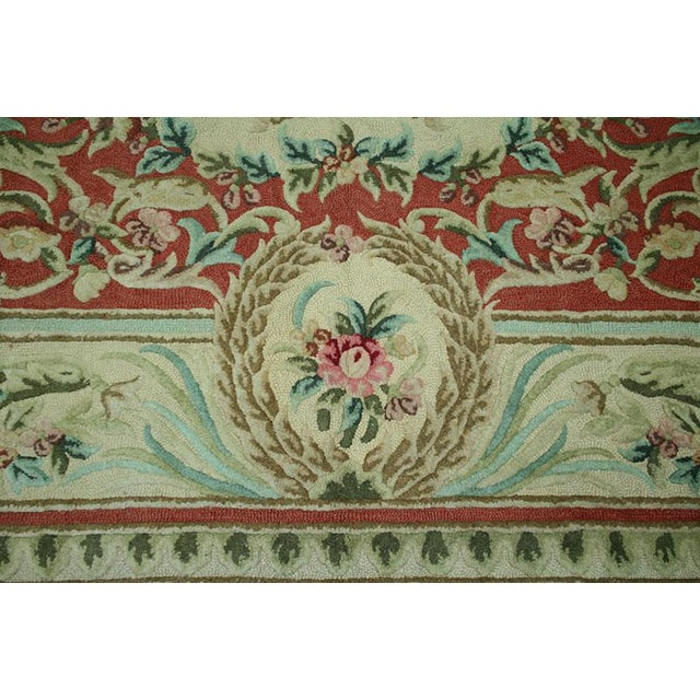 "Vintage Decorative Hooked Rug - 8'10"" x 12'2"" - Image 4 of 6"