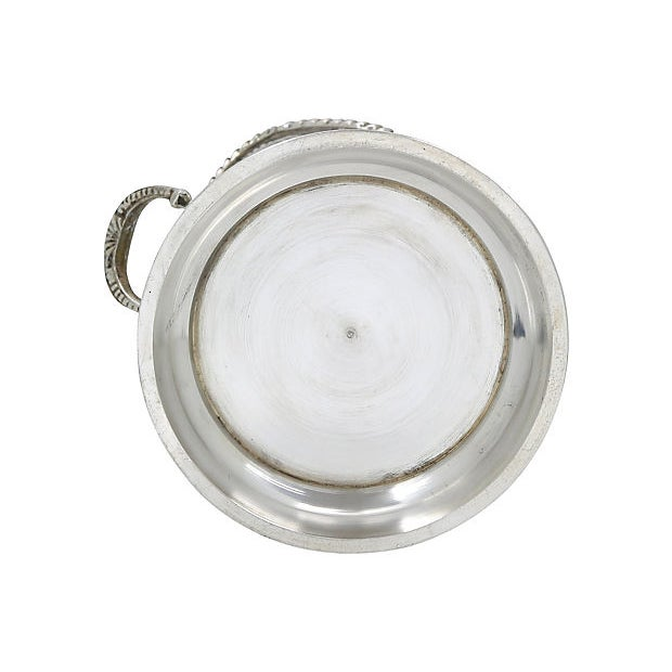 Antique English Silver-Plate Wine Caddy For Sale - Image 4 of 5
