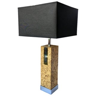 Mid-Century Modern Mixed Metal Cork Lamp by Mutual Sunset For Sale