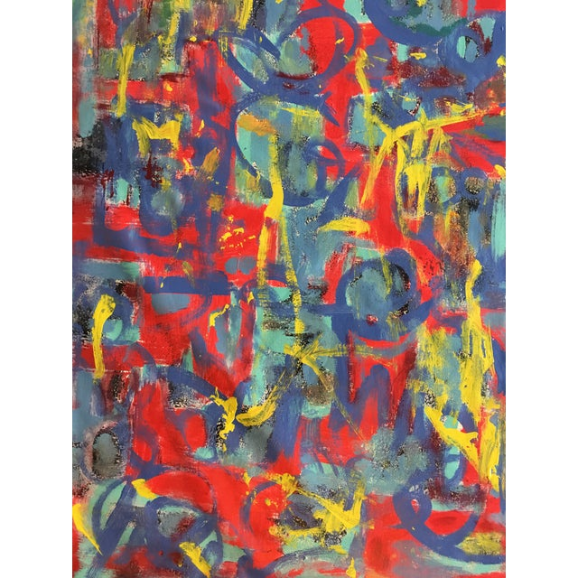 """Acrylic Abstract """"What Should I Do?"""" Acrylic Painting by Alaina Suga Lane For Sale - Image 7 of 8"""