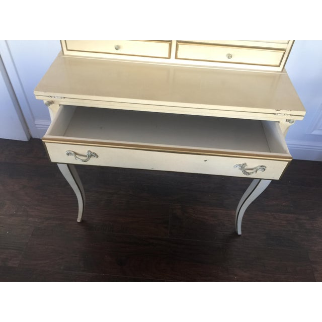 French Provincial Secretary Desk With Mesh Doors - Image 10 of 11