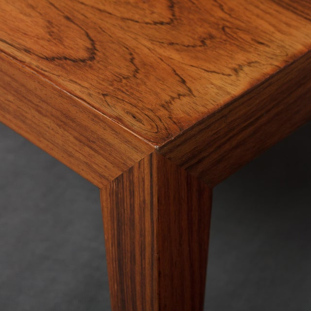 Contemporary 1960s Severin Hansen Square Rosewood Coffee Table For Sale - Image 3 of 7